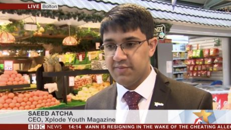 Saeed Atcha, CEO at Xplode Magazine on BBC News